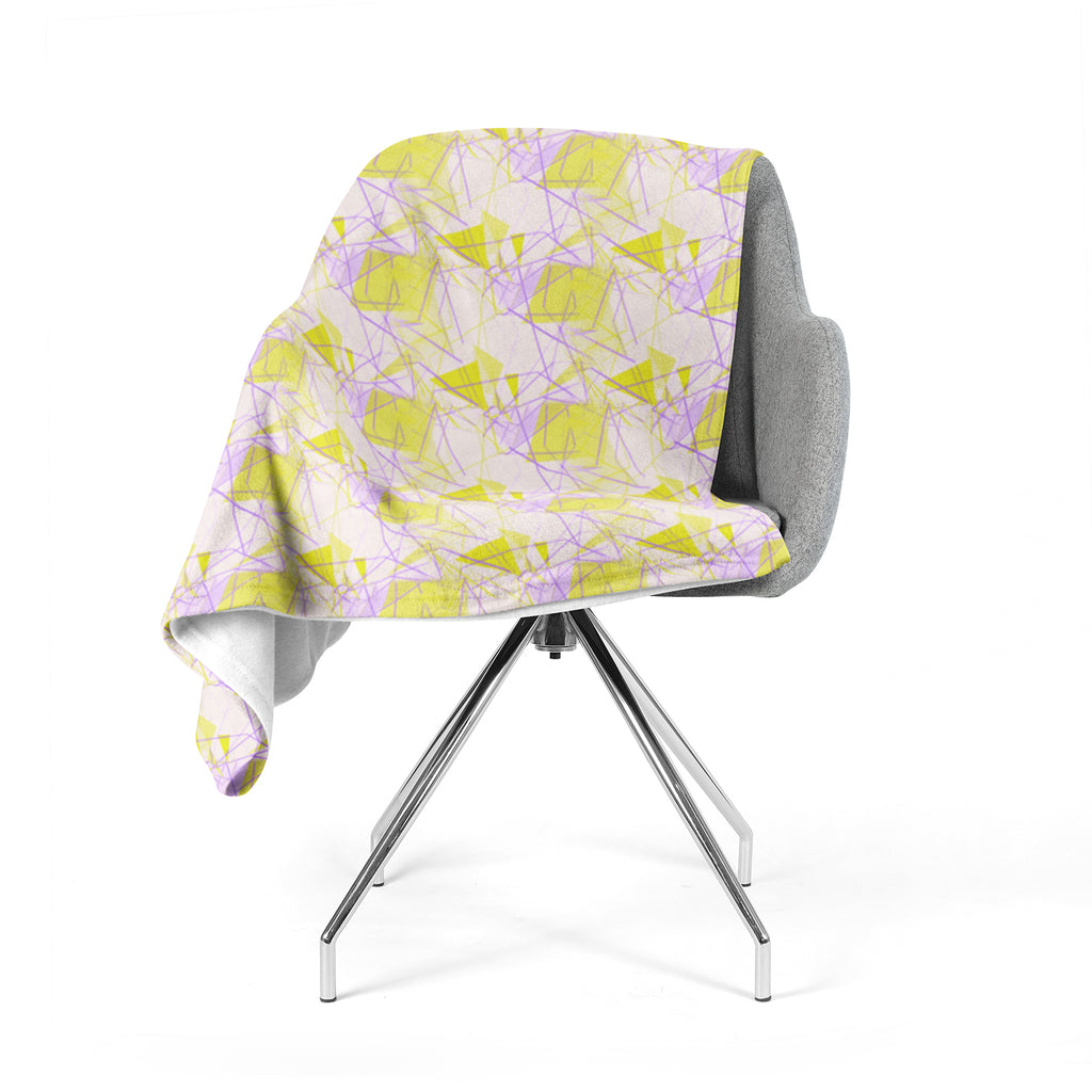 "Alison Coxon ""Yellow"" Fleece Throw Blanket"