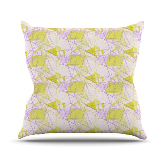 "Alison Coxon ""Yellow"" Throw Pillow - KESS InHouse  - 1"