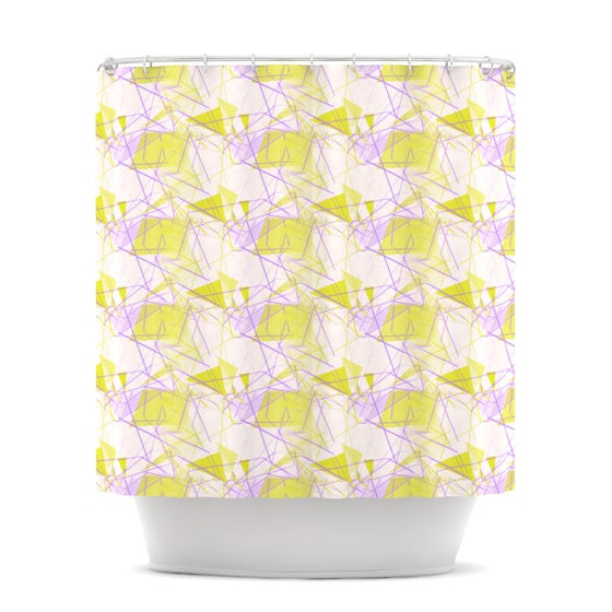 "Alison Coxon ""Yellow"" Shower Curtain - KESS InHouse"