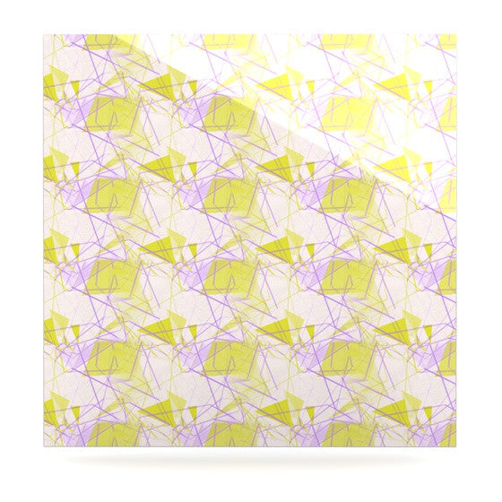 "Alison Coxon ""Yellow"" Luxe Square Panel - KESS InHouse  - 1"
