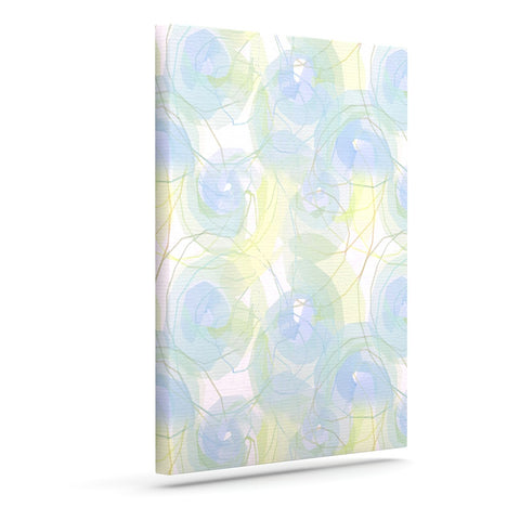 "Alison Coxon ""Blue Paper Flower"" Outdoor Canvas Wall Art - KESS InHouse  - 1"
