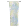 "Alison Coxon ""Blue Paper Flower"" Decorative Sheer Curtain - KESS InHouse"