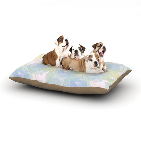 "Alison Coxon ""Blue Paper Flower"" Dog Bed - KESS InHouse  - 1"