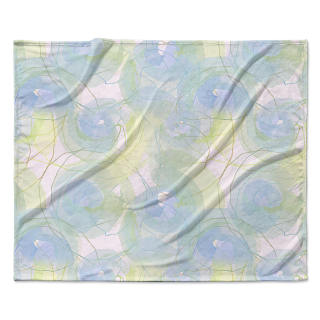 "Alison Coxon ""Blue Paper Flower"" Fleece Throw Blanket"