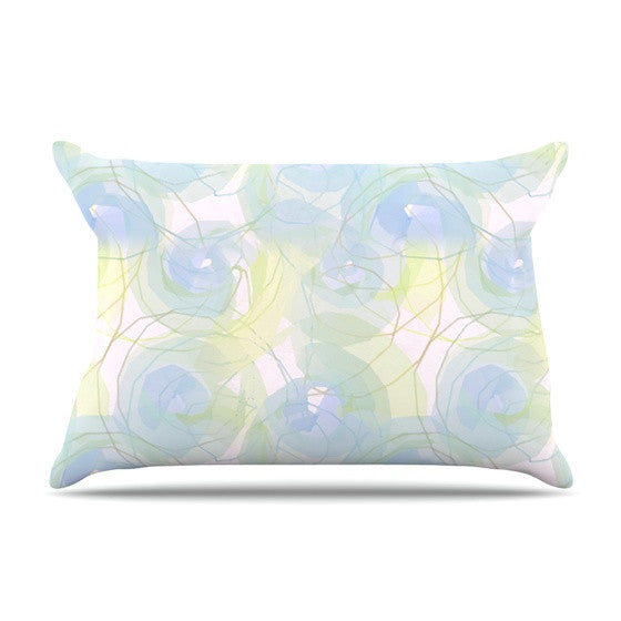 "Alison Coxon ""Blue Paper Flower"" Pillow Sham - KESS InHouse  - 1"