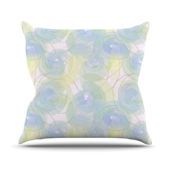 "Alison Coxon ""Blue Paper Flower"" Throw Pillow - KESS InHouse  - 1"