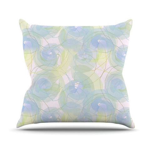 "Alison Coxon ""Blue Paper Flower"" Outdoor Throw Pillow - KESS InHouse  - 1"