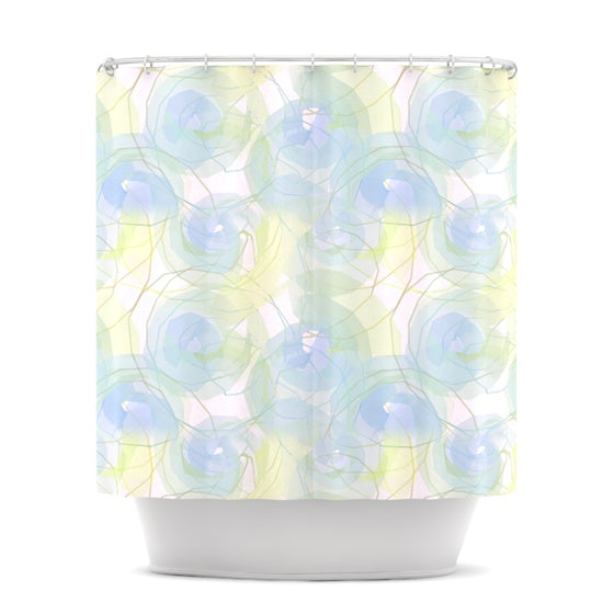 "Alison Coxon ""Blue Paper Flower"" Shower Curtain - KESS InHouse"