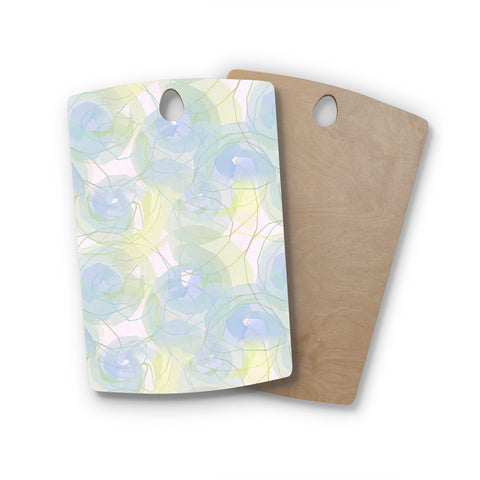"Alison Coxon ""Blue Paper Flower"" Rectangle Wooden Cutting Board"
