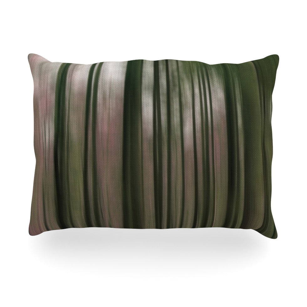 "Alison Coxon ""Forest Blur"" Oblong Pillow - KESS InHouse"