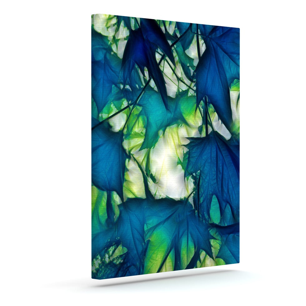"Alison Coxon ""Leaves"" Outdoor Canvas Wall Art - KESS InHouse  - 1"