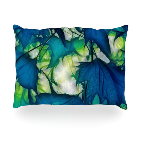 "Alison Coxon ""Leaves"" Oblong Pillow - KESS InHouse"