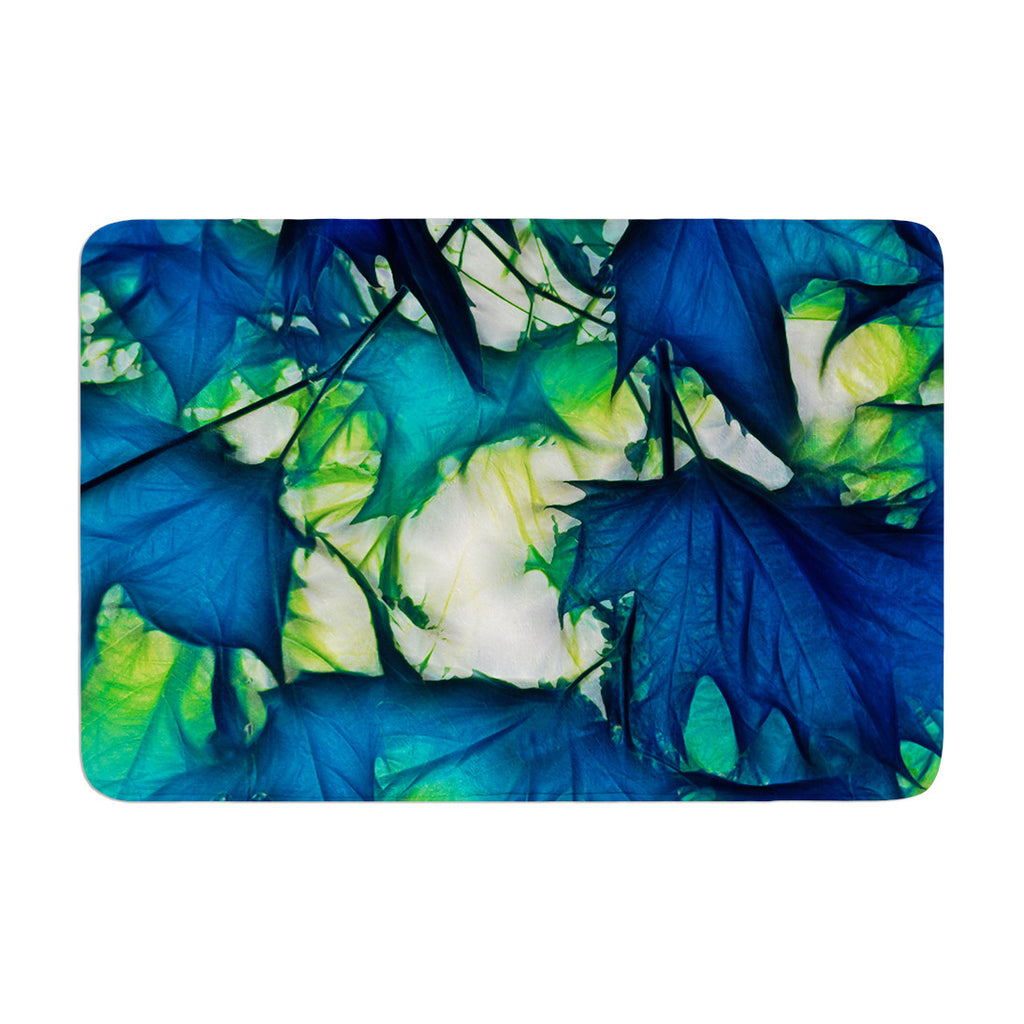 "Alison Coxon ""Leaves"" Memory Foam Bath Mat - KESS InHouse"