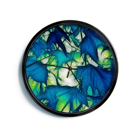 "Alison Coxon ""Leaves""  Modern Wall Clock"