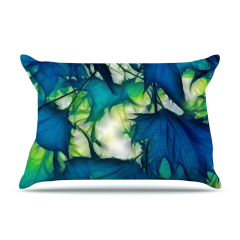 "Alison Coxon ""Leaves"" Pillow Sham - KESS InHouse  - 1"