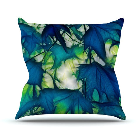 "Alison Coxon ""Leaves"" Outdoor Throw Pillow - KESS InHouse  - 1"