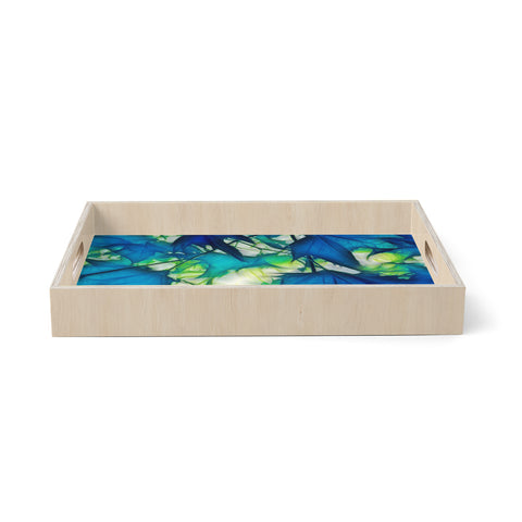 "Alison Coxon ""Leaves""  Birchwood Tray"