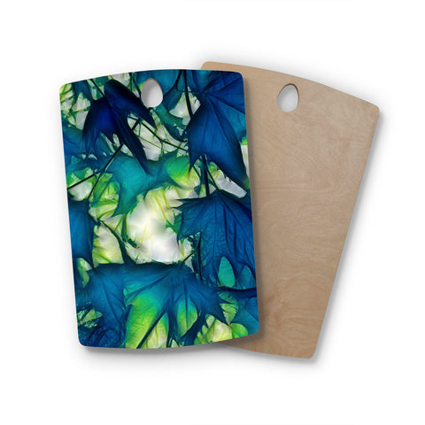 "Alison Coxon ""Leaves"" Rectangle Wooden Cutting Board"