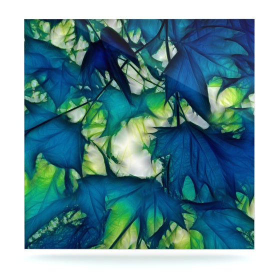"Alison Coxon ""Leaves"" Luxe Square Panel - KESS InHouse  - 1"