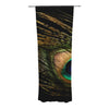 "Alison Coxon ""Peacock Black"" Decorative Sheer Curtain - KESS InHouse"