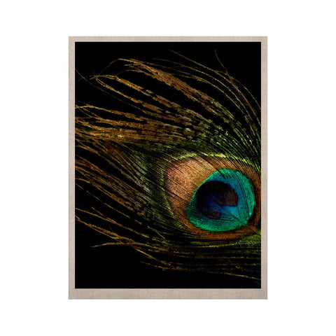 "Alison Coxon ""Peacock Black"" KESS Naturals Canvas (Frame not Included) - KESS InHouse  - 1"