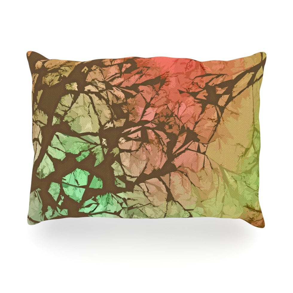 "Alison Coxon ""Fire Skies"" Oblong Pillow - KESS InHouse"