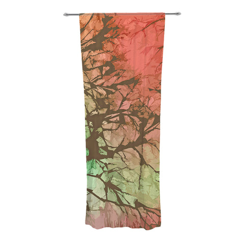 "Alison Coxon ""Fire Skies"" Decorative Sheer Curtain - KESS InHouse"