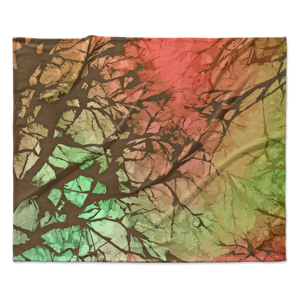 "Alison Coxon ""Fire Skies"" Fleece Throw Blanket"