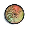 "Alison Coxon ""Fire Skies""  Modern Wall Clock"
