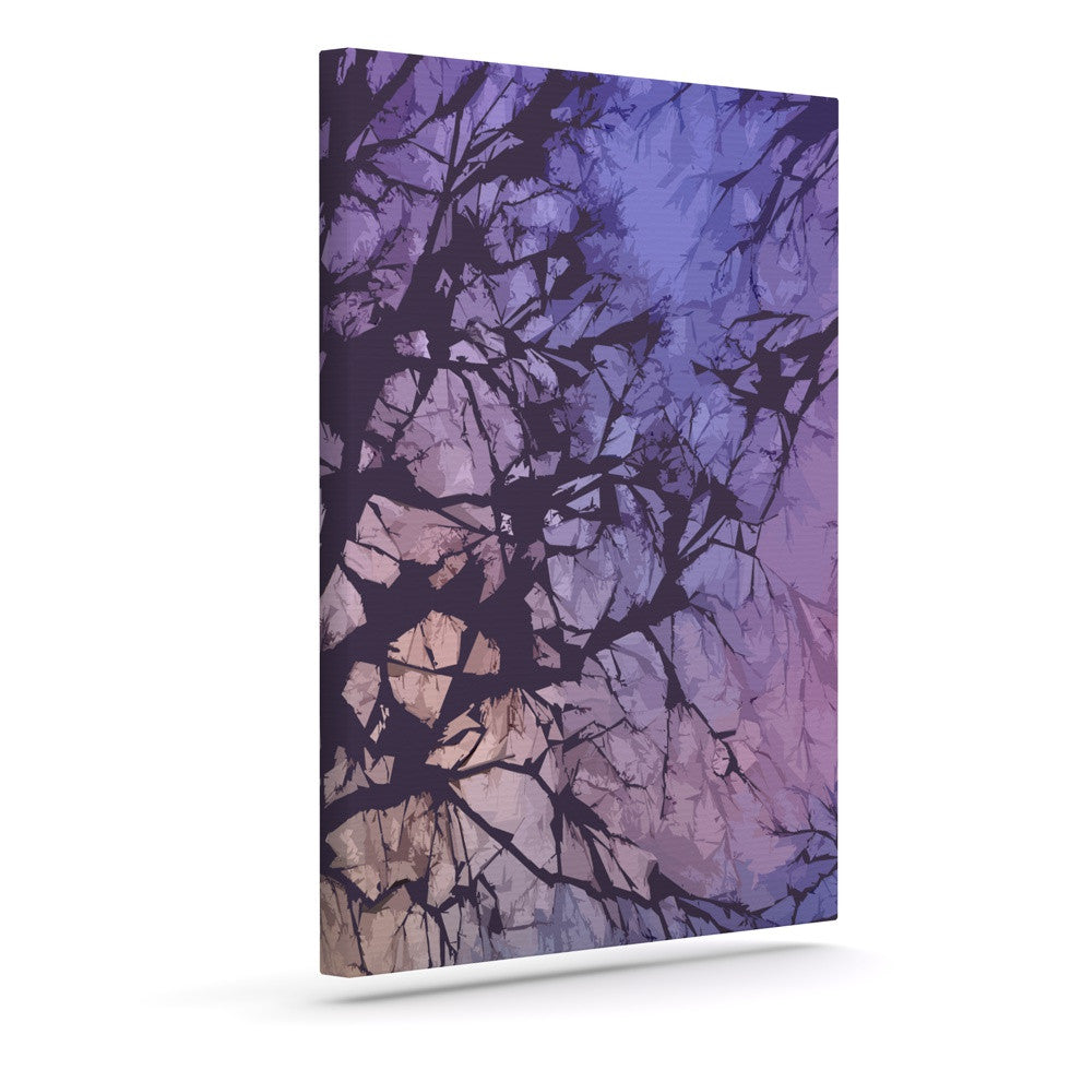 "Alison Coxon ""Violet Skies"" Outdoor Canvas Wall Art - KESS InHouse  - 1"
