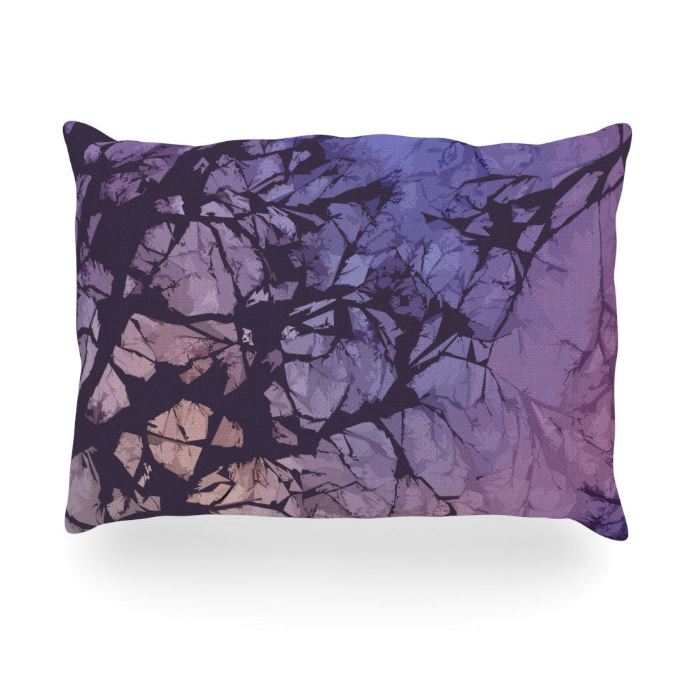 "Alison Coxon ""Violet Skies"" Oblong Pillow - KESS InHouse"