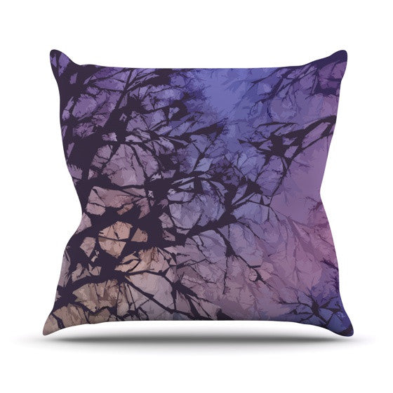 "Alison Coxon ""Violet Skies"" Outdoor Throw Pillow - KESS InHouse  - 1"