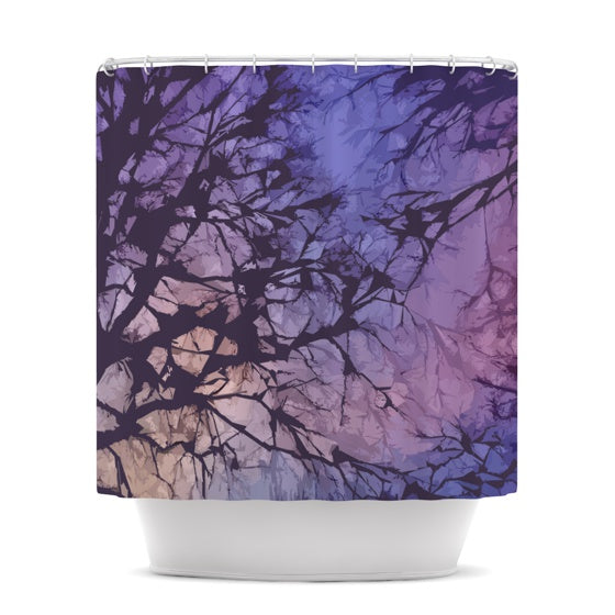 "Alison Coxon ""Violet Skies"" Shower Curtain - KESS InHouse"