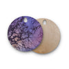 "Alison Coxon ""Violet Skies"" Round Wooden Cutting Board"