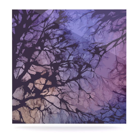 "Alison Coxon ""Violet Skies"" Luxe Square Panel - KESS InHouse  - 1"