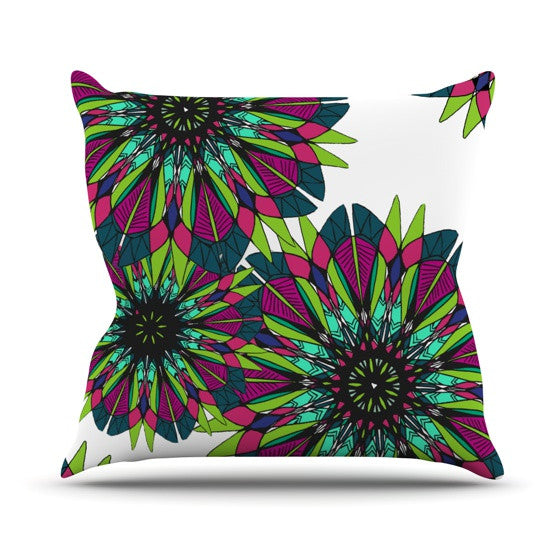 "Alison Coxon ""Bright"" Outdoor Throw Pillow - KESS InHouse  - 1"