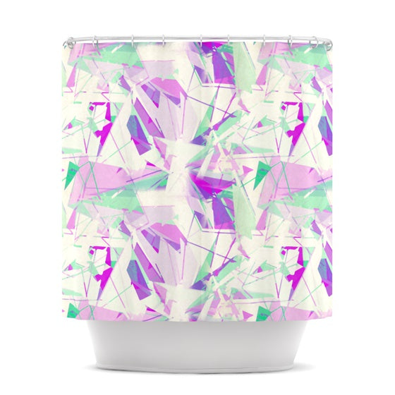 "Alison Coxon ""Shatter Purple"" Shower Curtain - KESS InHouse"