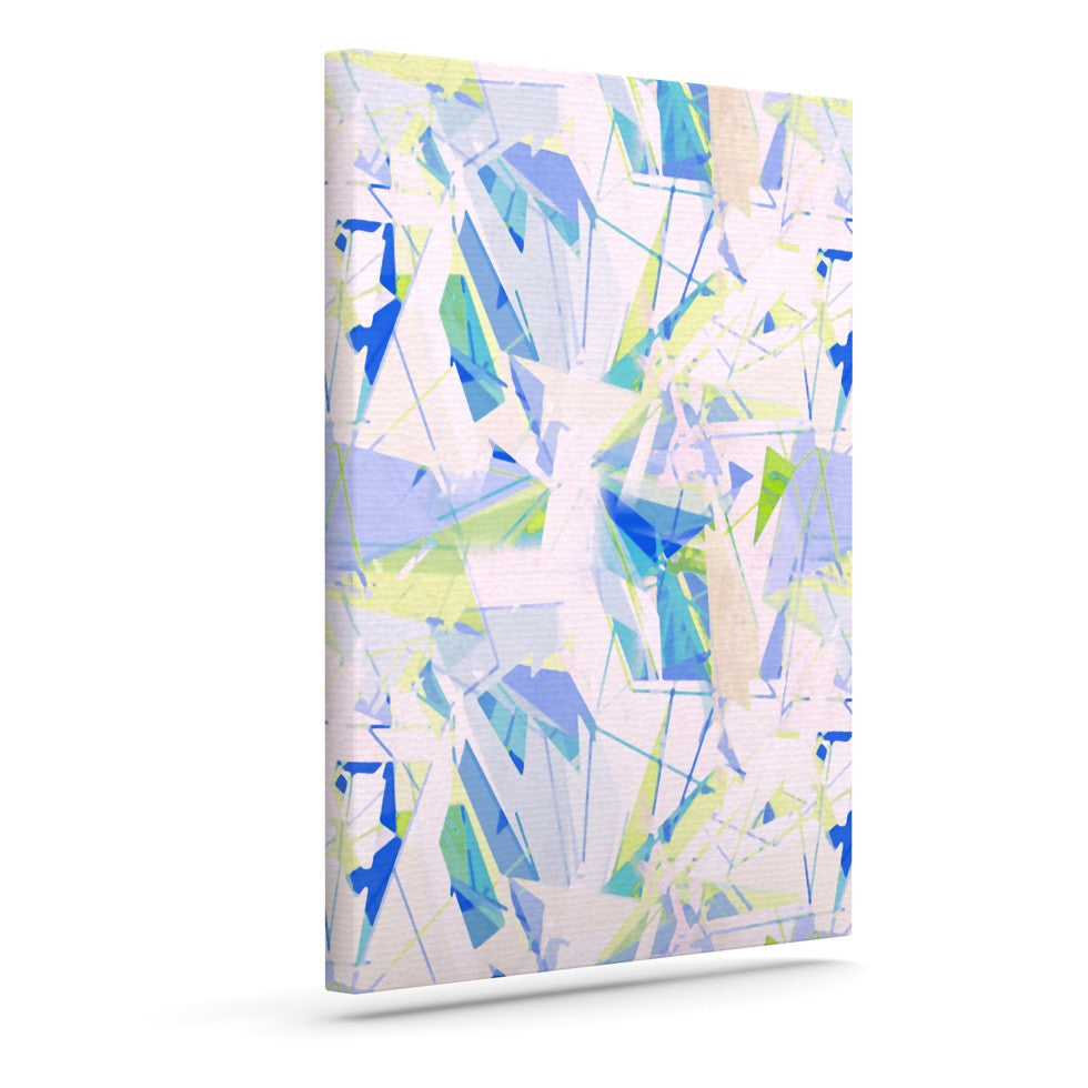 "Alison Coxon ""Shatter Blue"" Outdoor Canvas Wall Art - KESS InHouse  - 1"