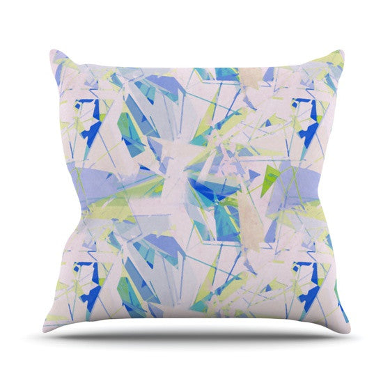 "Alison Coxon ""Shatter Blue"" Outdoor Throw Pillow - KESS InHouse  - 1"