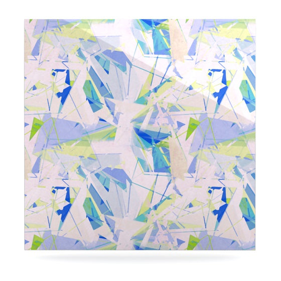 "Alison Coxon ""Shatter Blue"" Luxe Square Panel - KESS InHouse  - 1"