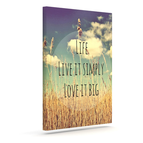 "Alison Coxon ""Life"" Outdoor Canvas Wall Art - KESS InHouse  - 1"