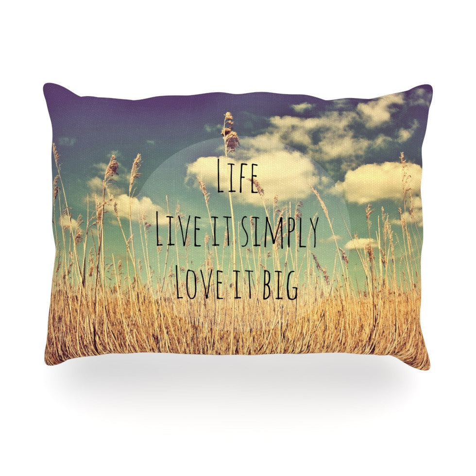"Alison Coxon ""Life"" Oblong Pillow - KESS InHouse"
