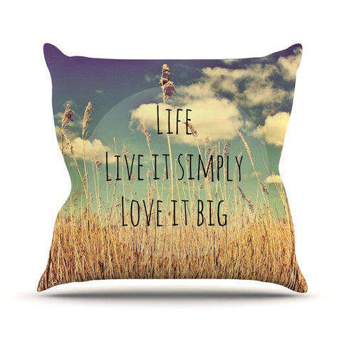 "Alison Coxon ""Life"" Outdoor Throw Pillow - KESS InHouse  - 1"