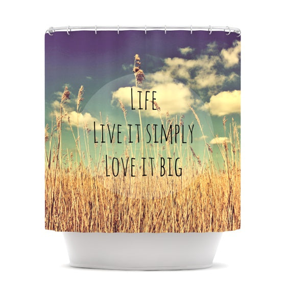 "Alison Coxon ""Life"" Shower Curtain - KESS InHouse"