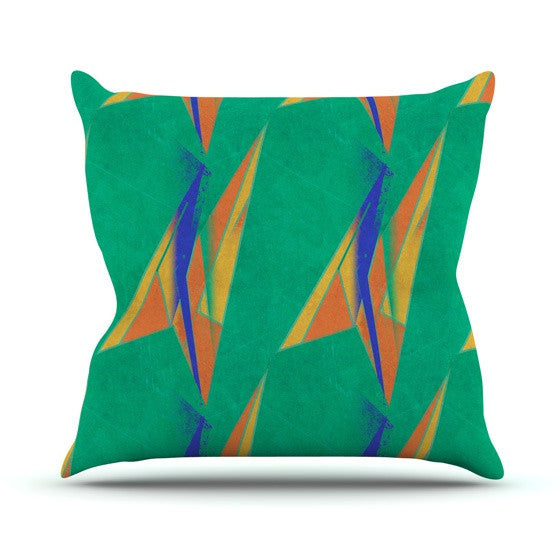 "Alison Coxon ""Deco Art"" Outdoor Throw Pillow - KESS InHouse  - 1"