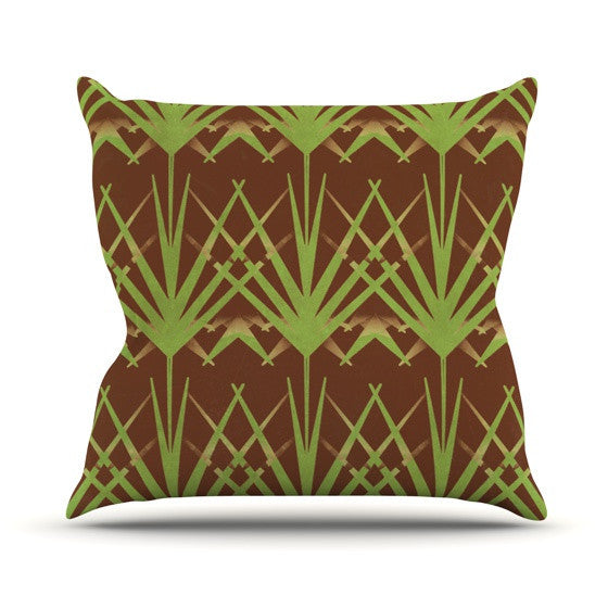 "Alison Coxon ""Mint Choc"" Outdoor Throw Pillow - KESS InHouse  - 1"