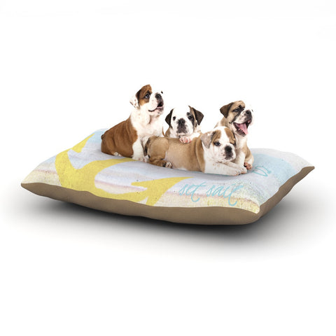"Alison Coxon ""Let Your Dreams Set Sail"" Dog Bed - KESS InHouse  - 1"