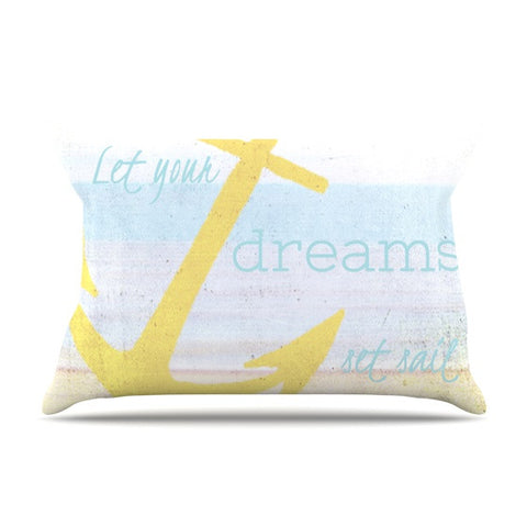 "Alison Coxon ""Let Your Dreams Set Sail"" Pillow Sham - KESS InHouse  - 1"