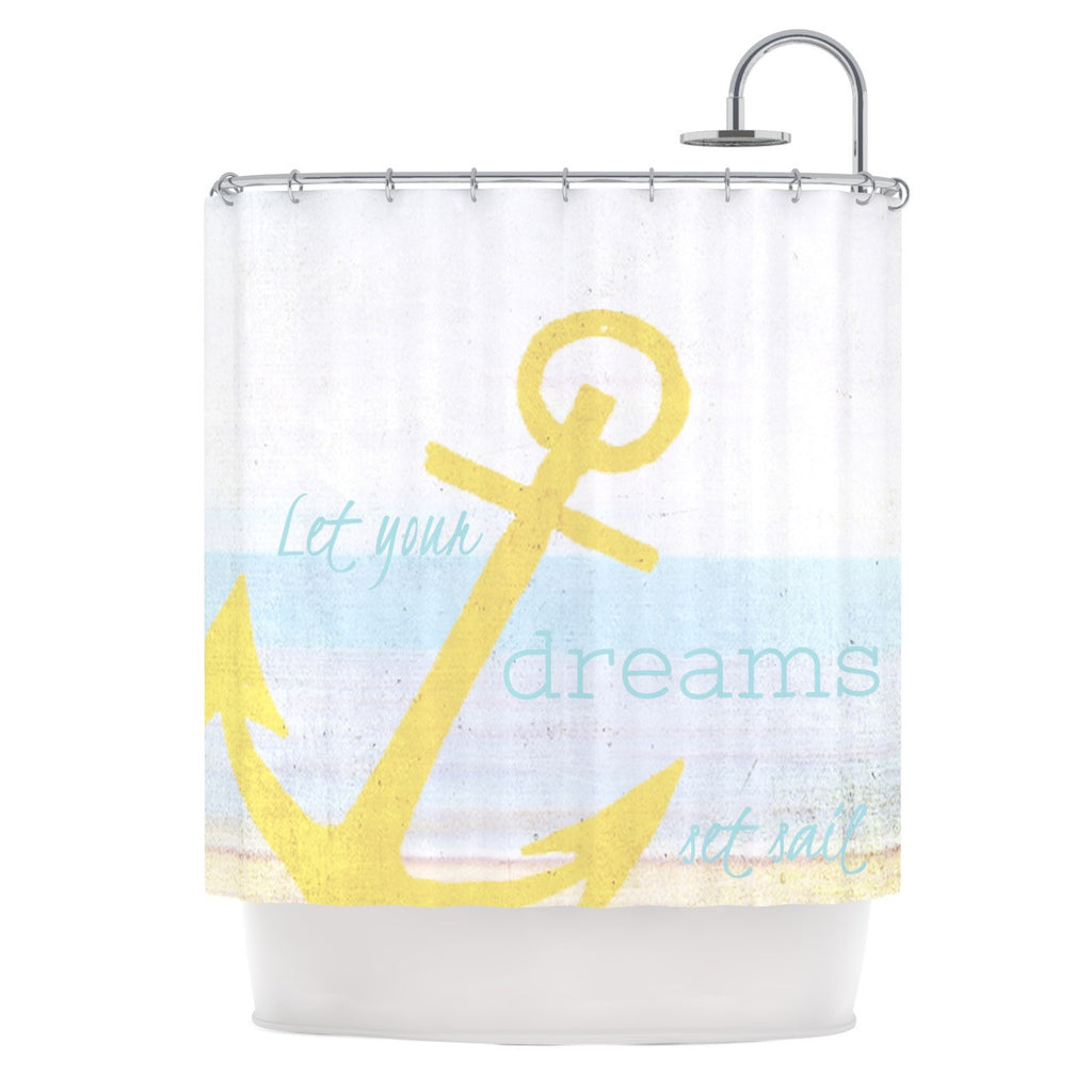 "Alison Coxon ""Let Your Dreams Set Sail"" Shower Curtain - KESS InHouse"