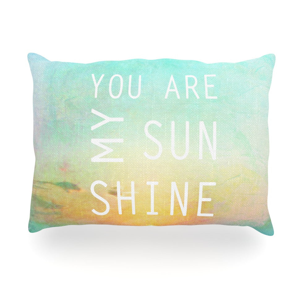 "Alison Coxon ""You Are My Sunshine"" Oblong Pillow - KESS InHouse"
